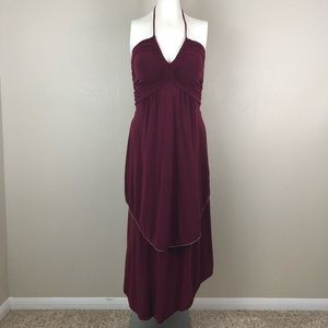 Marc By Marc Jacobs Merlot Piped Jersey Maxi Dress